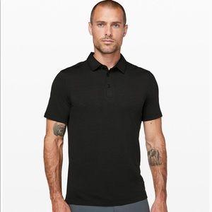 Black Lululemon Evolution Polo Shirt - Size Large
